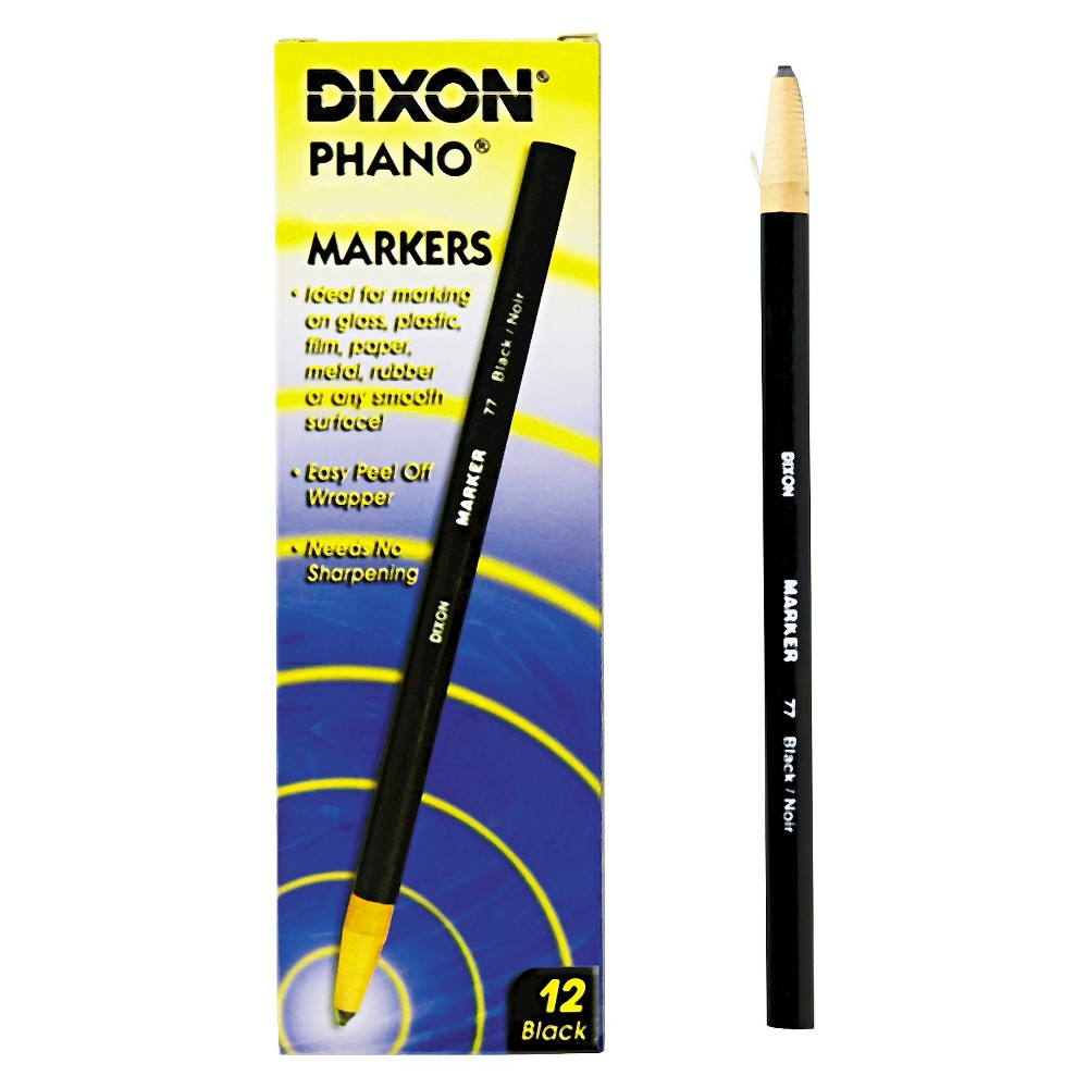 Image of Dixon 12ct China Marker - Black