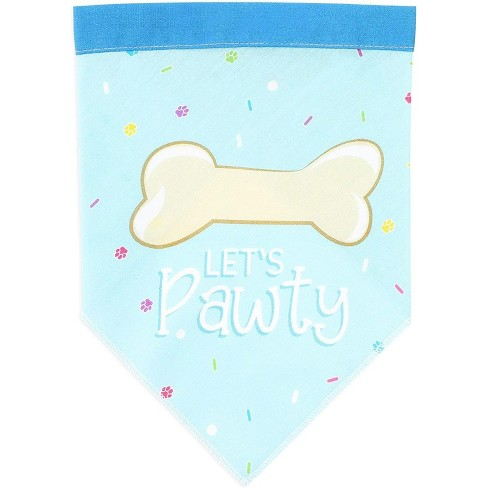 Let's party Pet Bandana Scarf, Boy Dog Puppy Costume Apparel for Birthday Party, Blue - image 1 of 4