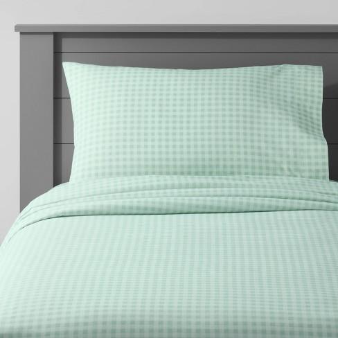 Gingham Cotton Sheet Set - Pillowfort™ - image 1 of 3