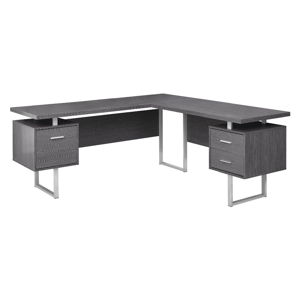 """Image of """"70"""""""" Computer Desk Left Or Right Facing Gray - EveryRoom"""""""