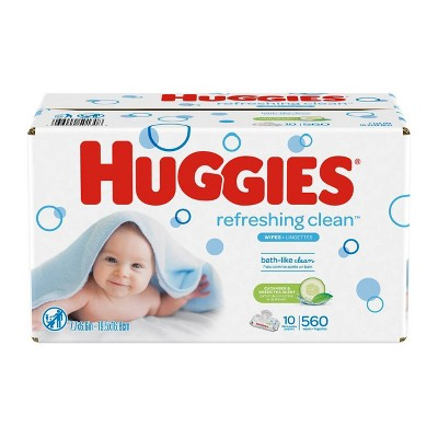 Huggies One & Done Baby Wipes Cucumber/Green Tea - 560ct