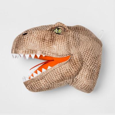 Jurassic World Dinosaur Head Throw Pillow Brown