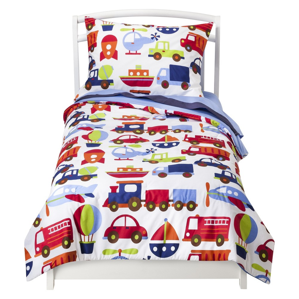 Image of Bacati Toddler Bedding Set - 4pc - Transportation 4pc