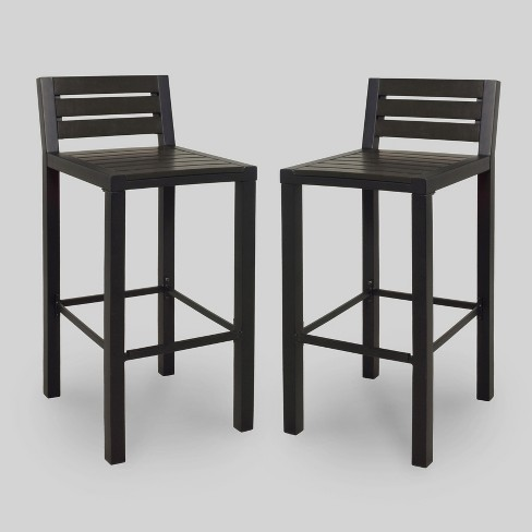 Bryant 2pk Faux Wood Patio Bar Stool Black Project 62