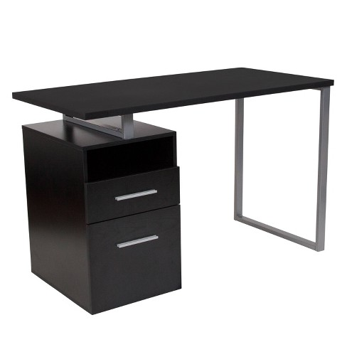 Harwood Computer Desk with Drawers - Riverstone Furniture - image 1 of 4
