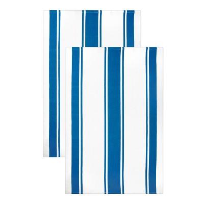 "20""x 30"" 2pk Kitchen Towel Blue - MU kitchen"