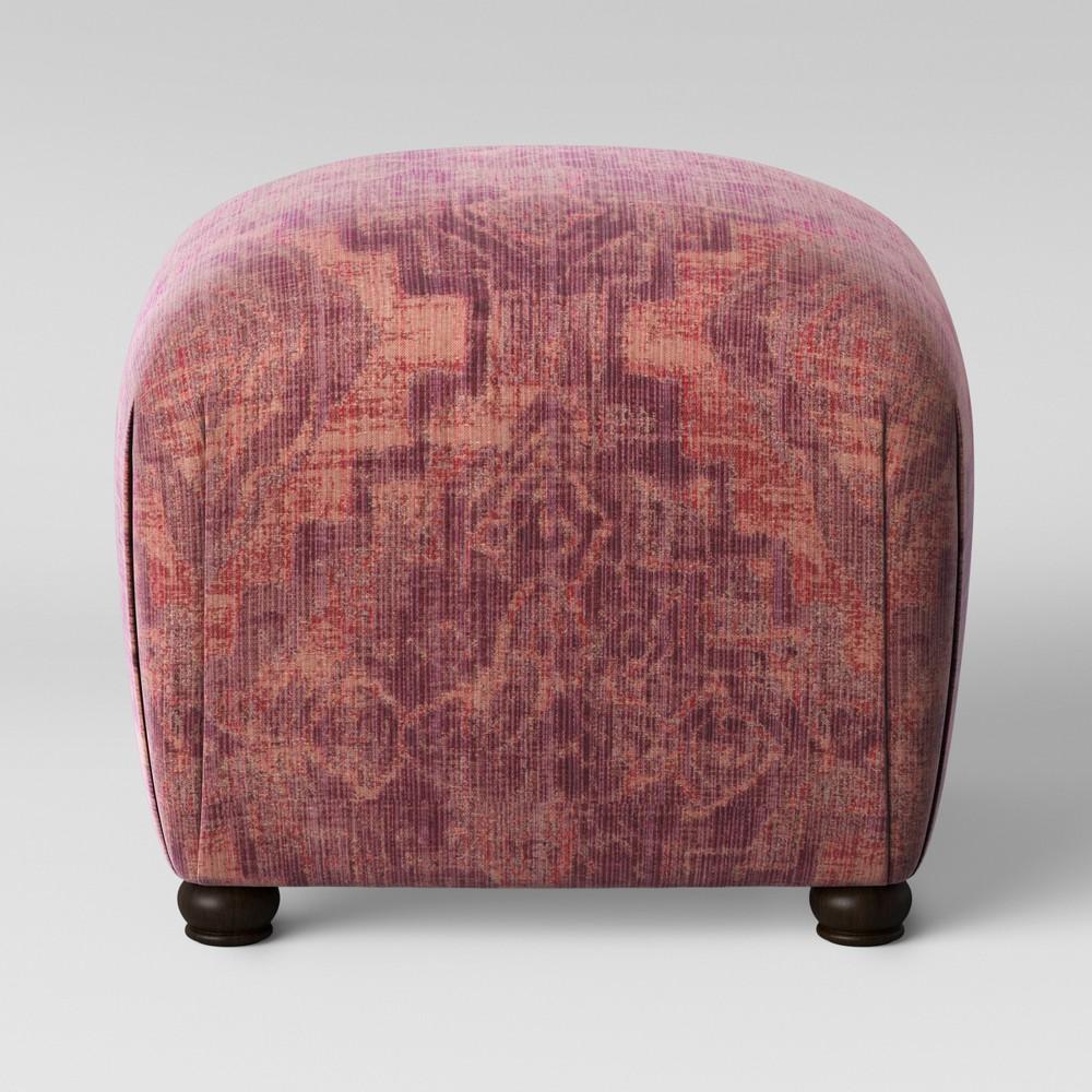 Poppy Ottoman Pink Woven Design - Opalhouse, Pink Textured Woven
