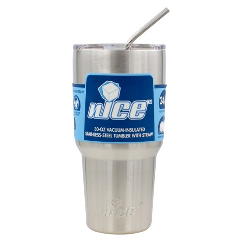 nICE Coolers 30oz Tumbler with Straw - Silver - image 1 of 6