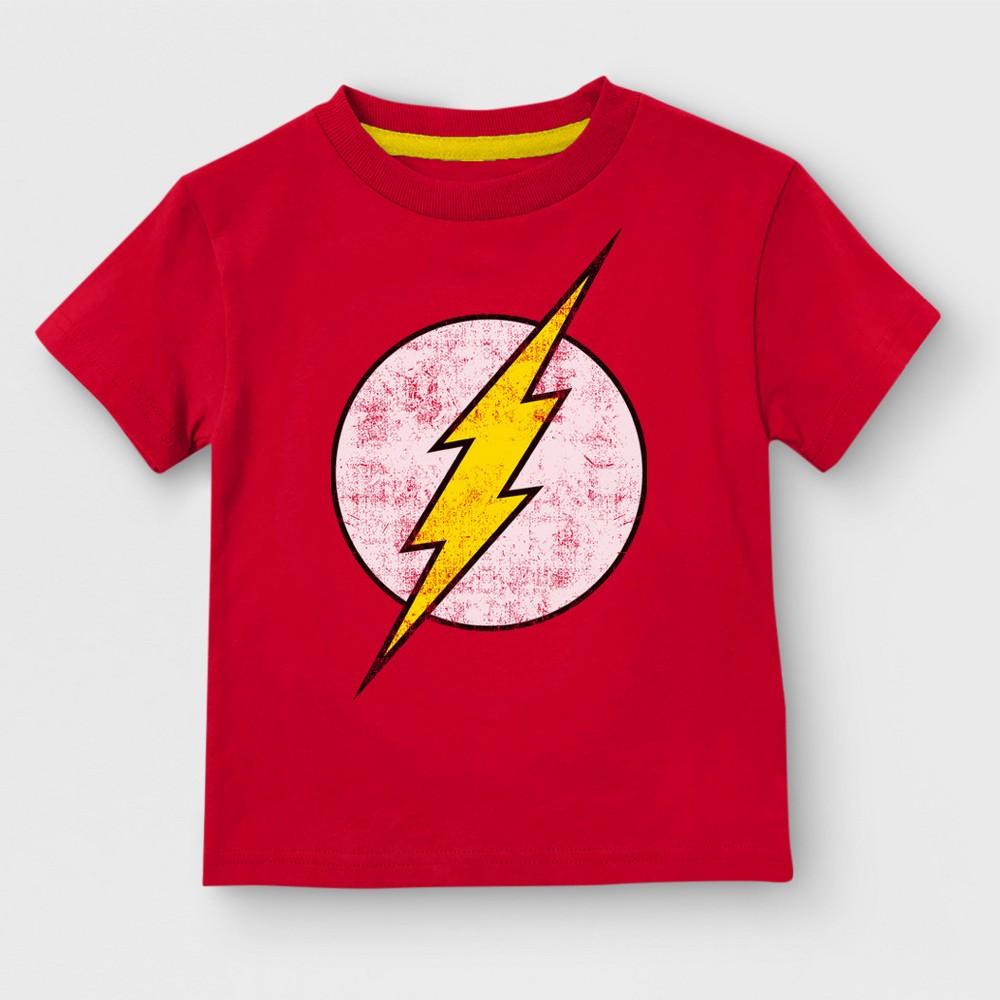 Toddler Boys' DC Comics The Flash Short Sleeve T-Shirt - Red 3T