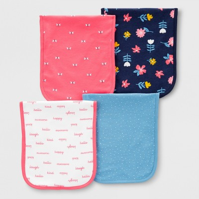 Baby 4pk Burp Cloths - Just One You® made by carter's One Size