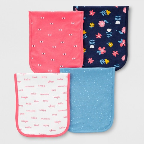 Baby 4pk Burp Cloths - Just One You® made by carter's One Size - image 1 of 1