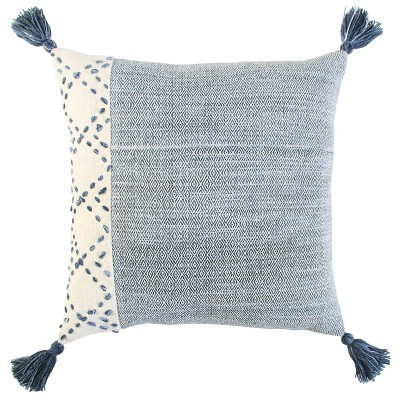"""20""""x20"""" Oversize Poly Filled Color Block Square Throw Pillow - Rizzy Home"""