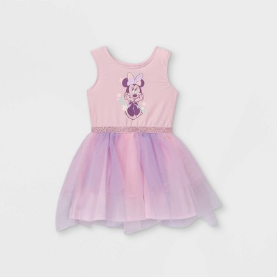Toddler Girls' Minnie Mouse Sleeveless Tutu Dress - Pink