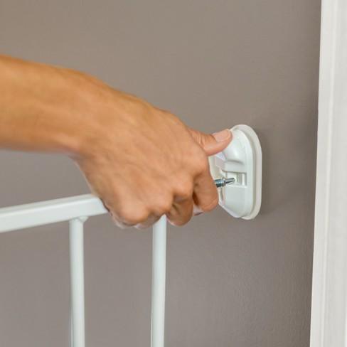 North States Essential Stairway Thru Baby Gate White 24 5 42 0