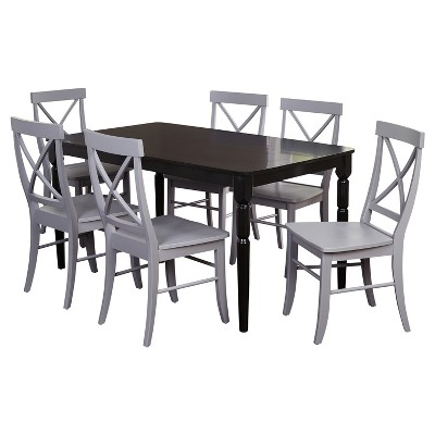 Target Marketing Sys Dining Table Set Gray