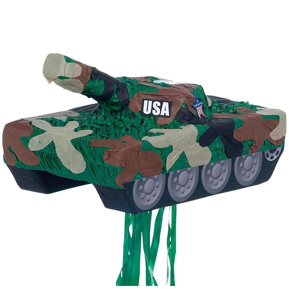 Tank Pull String Pinata Kit, Multi-Colored