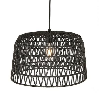 Woven Pendant Lamp Gray/Black - 3R Studios