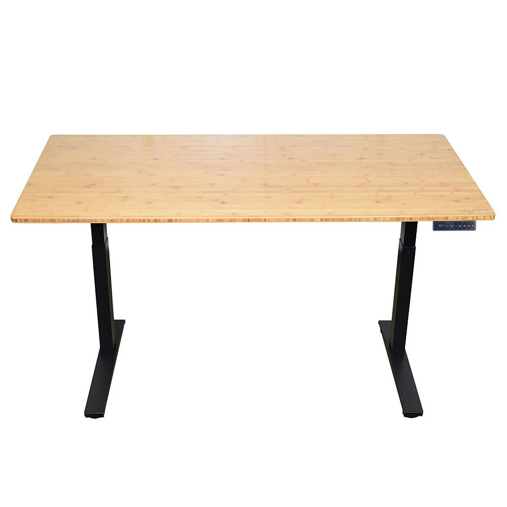 "Image of ""60""""x30"""" Adjustable Standing Desk Black - Uncaged Ergonomics"""