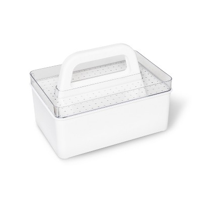 Solid Stackables Medium Caddy With Carry Tray Utility Storage Bins - Madesmart