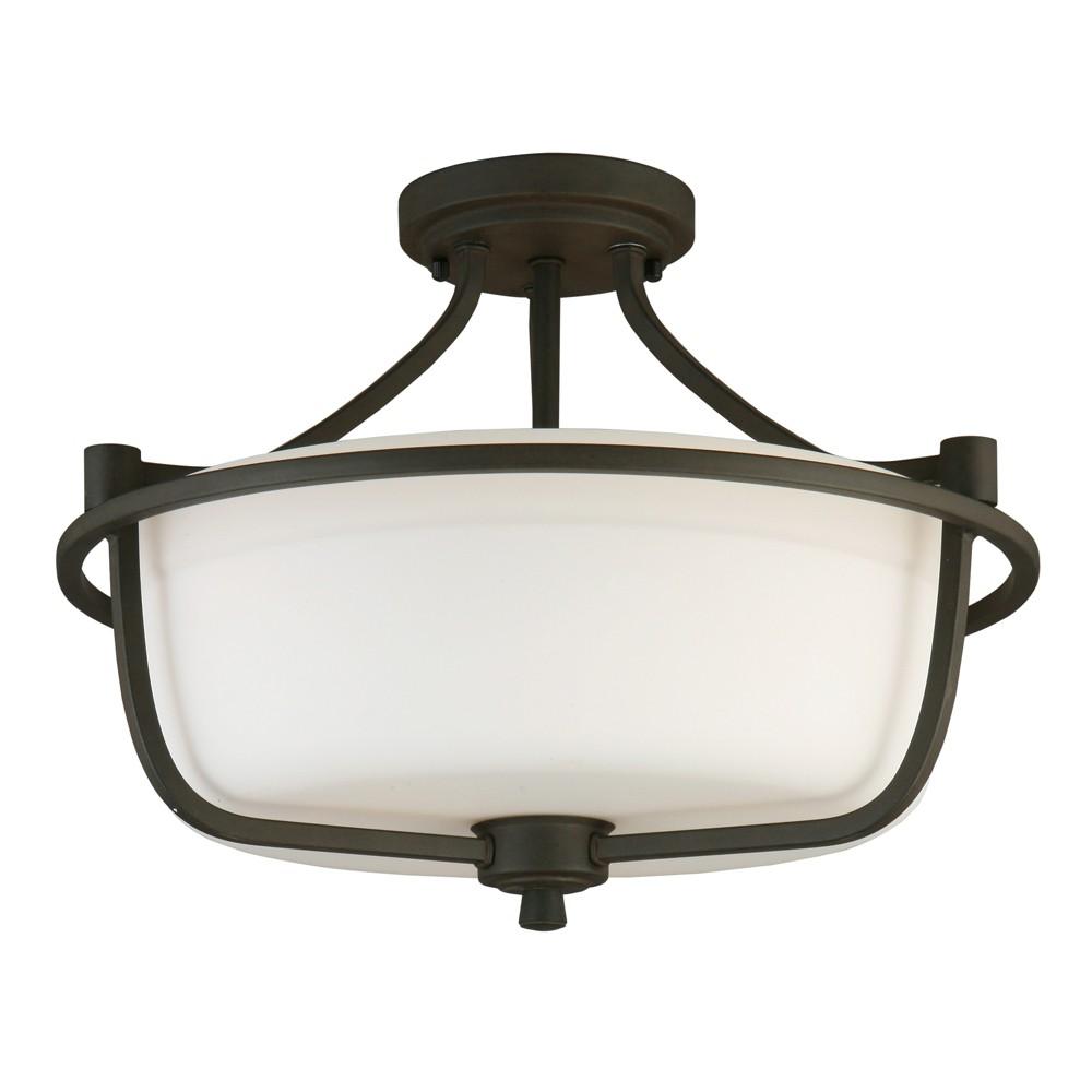 Image of Mayview 3 Light Semi Flush Bronze/White - EGLO