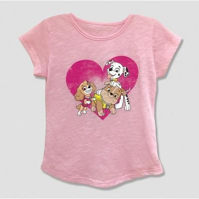 Toddler Girls' PAW Patrol Short Sleeve T-Shirt - Pink 2T