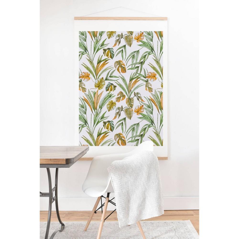 11 34 X 14 34 Marta Barragan Camarasa Sweet Tropical Botany Framed Wall Poster Print And Hanger Deny Designs