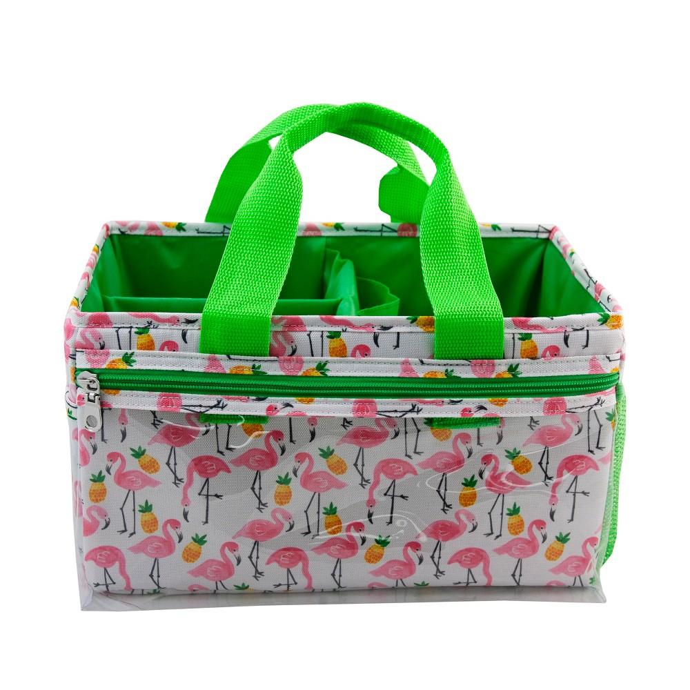 Image of Allegro Flamingo & Pineapple Makeup Bag and Organizer, Pink