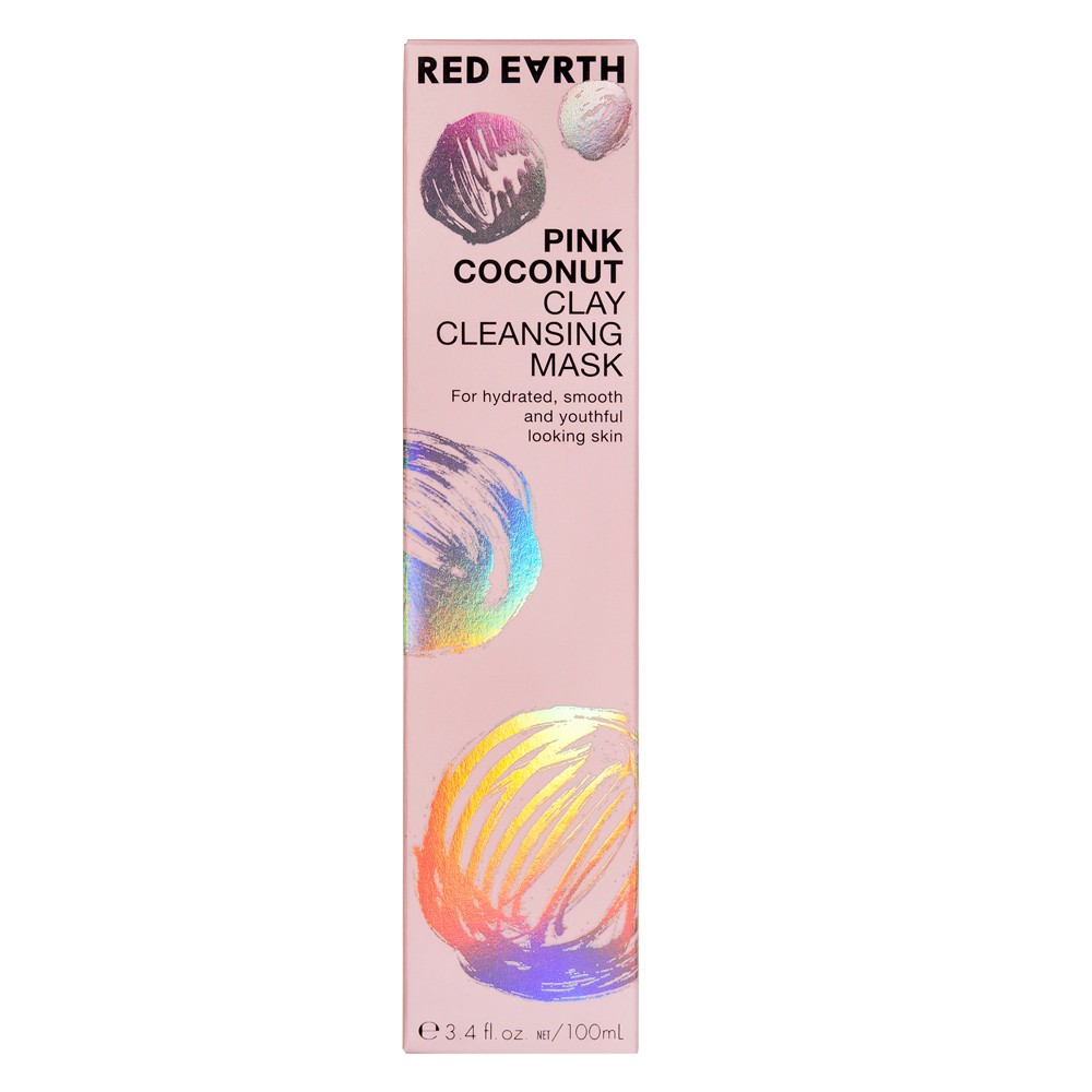 Image of Red Earth Pink Coconut Clay Cleansing Face Mask - 3.4oz