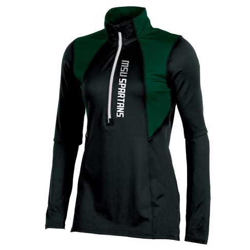 Michigan State Spartans Women's Stadium Elite Long Sleeve 1/2 Zip Poly Top with Thumb Holes - image 1 of 2