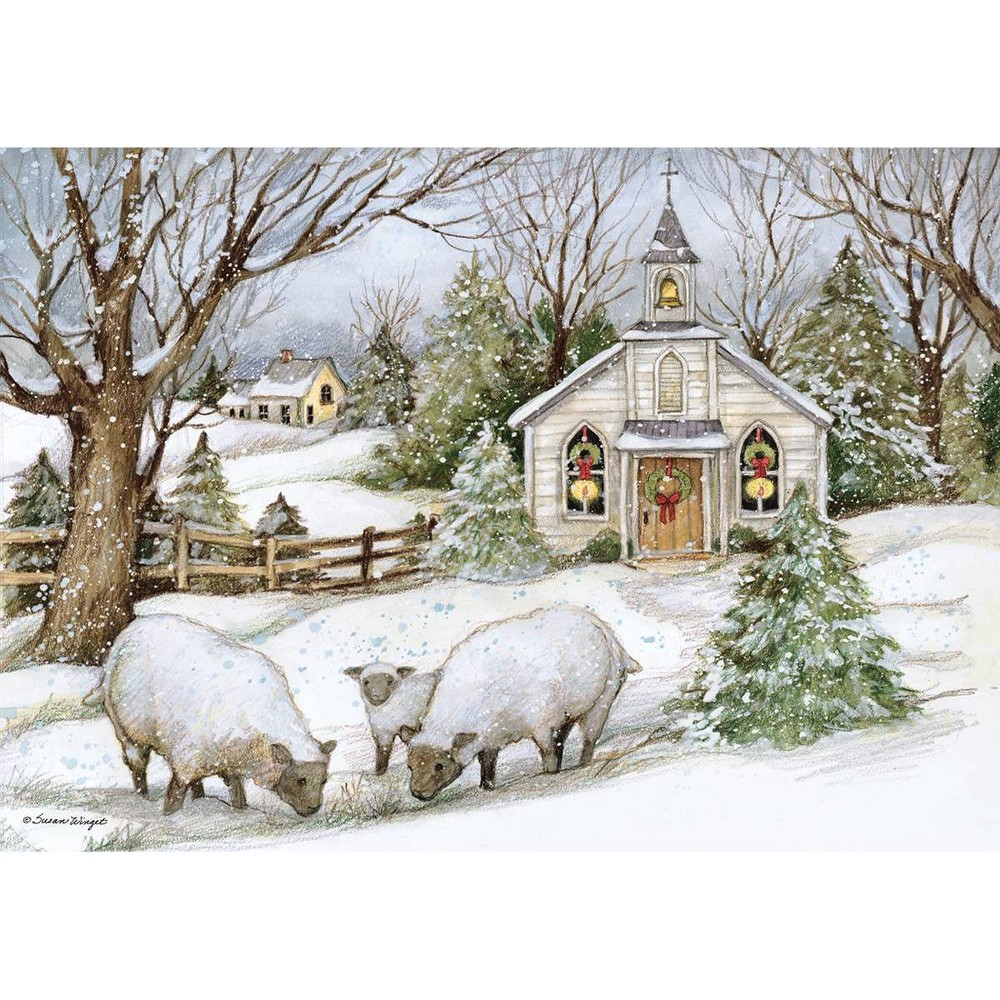 Image of 12ct Grazing Morning Boxed Christmas Cards