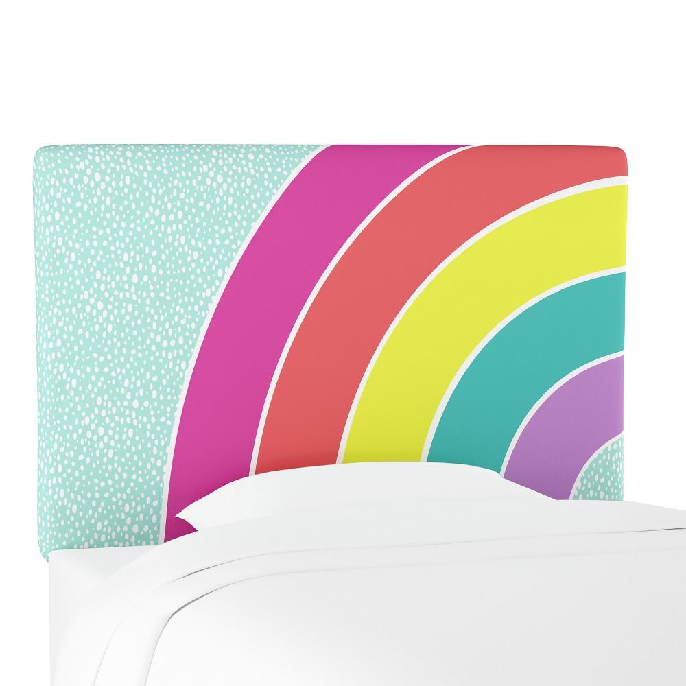 Kids Printed Upholstered Headboard Queen Rainbow - Pillowfort, Multicolored