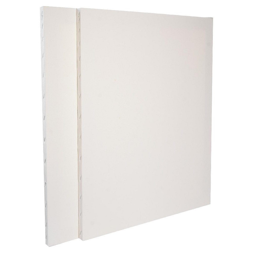 "Image of ""Discovery Economy Stretched Canvas, 20""""x24"""" - 2pk, White"""