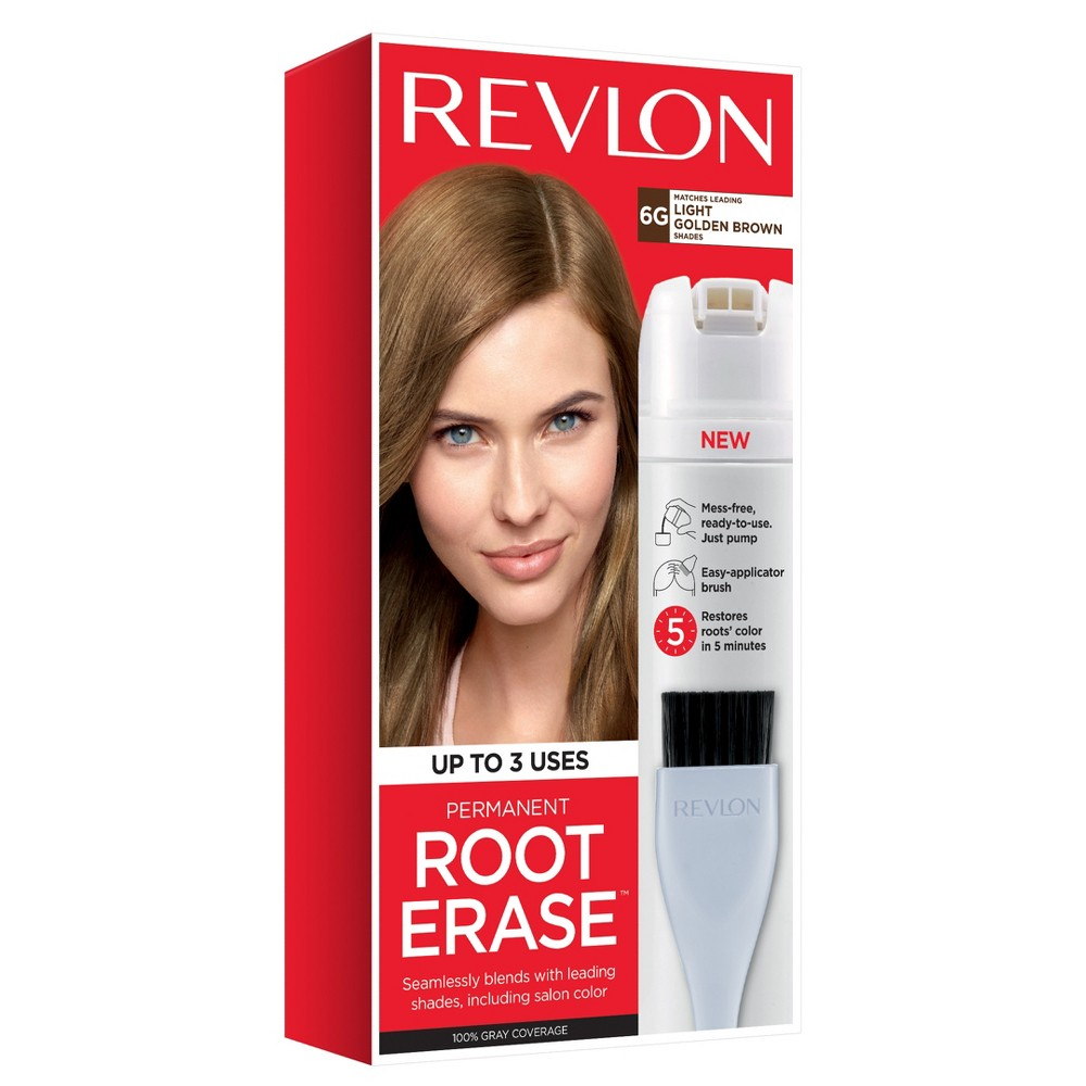 Image of Revlon Permanent Root Erase Roots Touch Up Hair Color Root Touch Up - Light Golden Brown - 3.2 fl oz