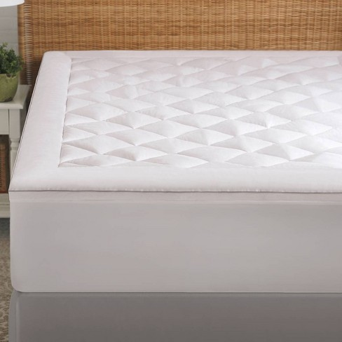Allergen Barrier Mattress Pad White - PureShield - image 1 of 3