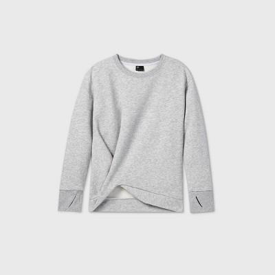 Girls' Fleece Twist-Front Crewneck Sweatshirt - All in Motion™
