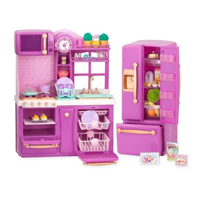 "Our Generation Kitchen Accessory with Play Food for 18"" Dolls - Gourmet Kitchen Playset - Lilac"