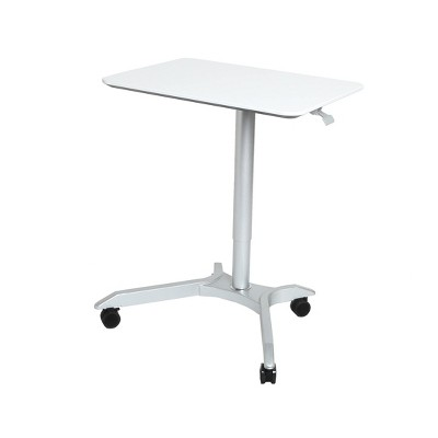 "28"" Airlift Pneumatic Adjustable Height Sit and Stand Mobile Laptop Computer Desk Cart - Seville Classics"
