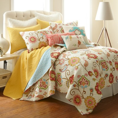 Ashbury Spring Floral Quilt and Pillow Sham Set - Levtex Home