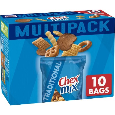Chex Mix Traditional Snack Mix Bags - 17.5oz/10ct