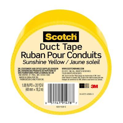 Scotch 20 Yard Duct Tape - Sunshine Yellow