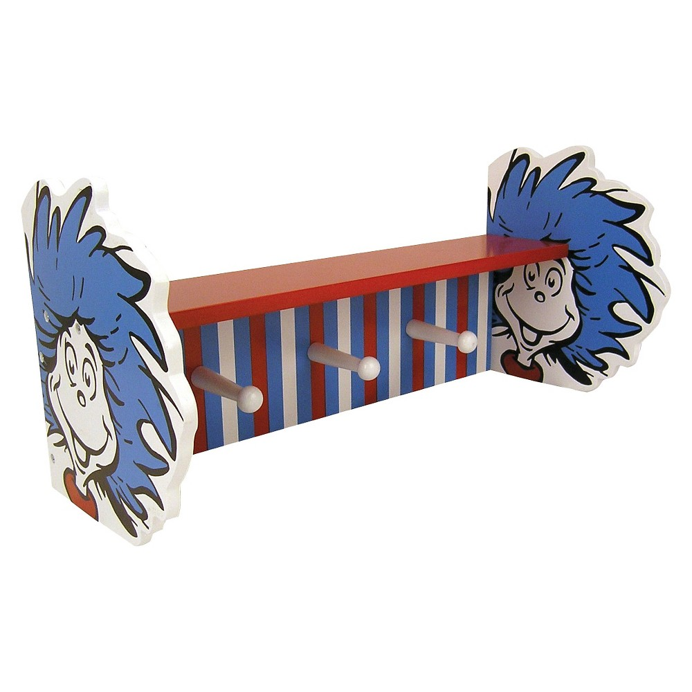 Image of Dr. Seuss by Trend Lab Thing 1 -Thing 2 Wall Shelf