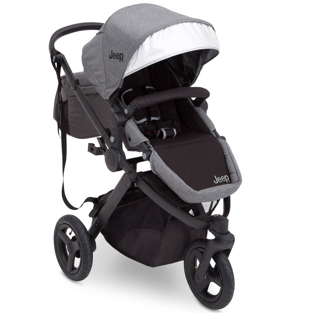Image of J is for Jeep Brand Sport Utility All-Terrain Jogger Stroller - Gray