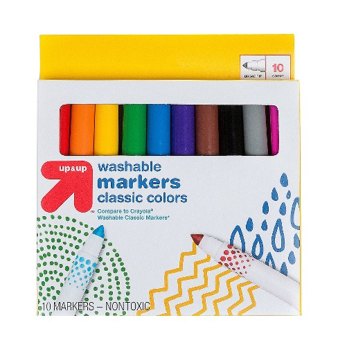 Markers Broad Tip Washable Classic Colors 10ct - Up&Up™ - image 1 of 2