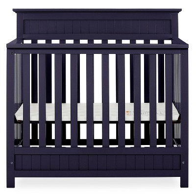 Dream On Me Aspen 4-in-1 Convertible Mini Crib - Navy