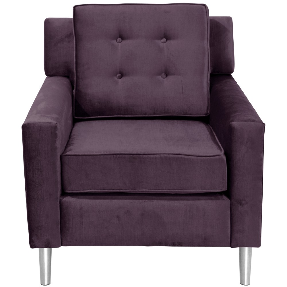 Parkview Chair with Silver Legs Majestic Plum - Skyline Furniture