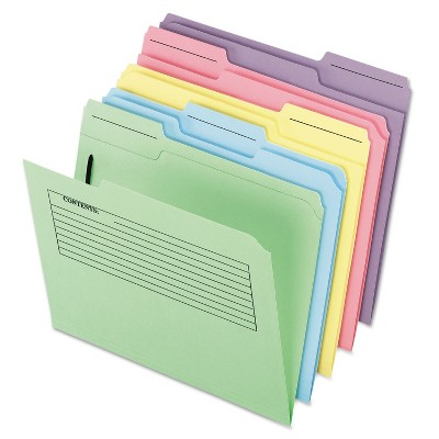 Pendaflex Printed Notes Folders with Fastener 1/3 Cut Top Tab Letter Assorted 30/Pack 45270