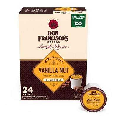 Don Francisco's Vanilla Nut Medium Roast Coffee - Single Serve Pods - 24ct