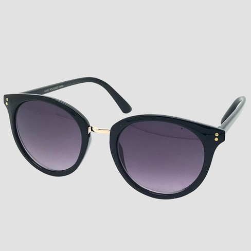 37a58563e058 Women s Round Sunglasses - A New Day™ Black   Target