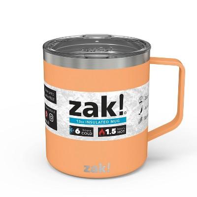 Zak! Designs 13oz Double Wall Stainless Steel Explorer Mug - Cantaloupe