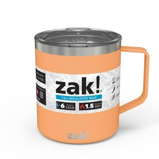 Zak! Designs 13oz Double Wall Stainless Steel Explorer Mug - Cantaloupe